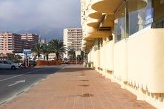 街道视图puerto小游艇船坞Benalmadena西班牙Andalicia 库存照片