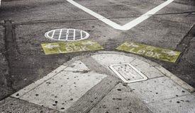 街道警报信号`神色` 免版税图库摄影