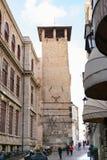 街道通过塞萨尔Battisti在帕多瓦市 库存图片