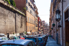 街道通过弗朗切斯科Crispi在罗马 免版税库存照片