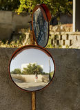 街道镜子 库存图片