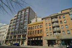 街道附近的唐人街在Vancouvers,加拿大 免版税库存图片