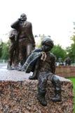 街道雕塑在芬兰 库存照片