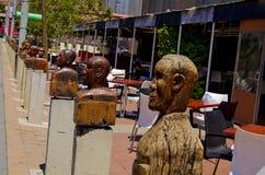 街道雕塑 库存照片