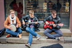 街道音乐天在维尔纽斯 库存图片