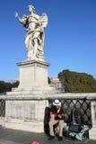 街道音乐家在罗马 免版税图库摄影