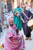 街道音乐家在菲斯,摩洛哥 免版税图库摄影