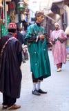 街道音乐家在菲斯,摩洛哥 免版税库存照片