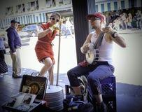 街道音乐家,派克集市,西雅图 免版税库存照片