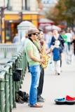 街道音乐家,巴黎 库存照片
