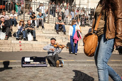 街道音乐家 免版税库存照片