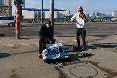 街道音乐家 免版税库存图片