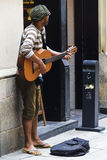 街道音乐家 库存图片