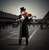 街道音乐家 免版税图库摄影