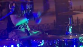 街道音乐鼓音乐会 影视素材