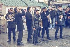街道音乐,吉普赛喇叭音乐2 免版税库存照片