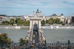 街道风景看法在布达佩斯市中心 库存图片