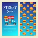 街道食物卡车传染媒介例证 免版税库存图片