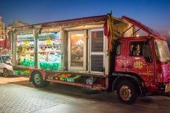 街道食物卡车在马耳他 库存图片