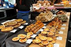 街道食物在伦敦在Portobello市场上 免版税图库摄影
