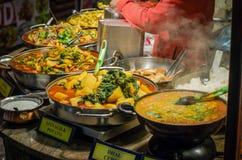 街道食物在伦敦 库存图片