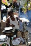 街道食物在加尔各答 免版税库存照片