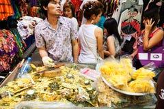 街道食物在曼谷,泰国 免版税库存图片
