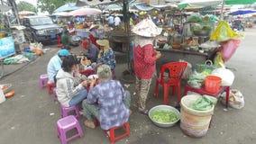 街道食物在胡志明,越南 股票录像