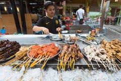 街道食物在马来西亚 图库摄影