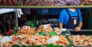 街道食物市场在Kenting夜市场上 免版税库存图片