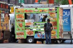 街道食物推车在曼哈顿, NYC 库存图片