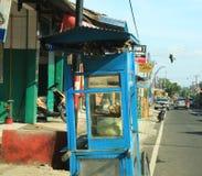 街道食物推车在巴厘岛01 图库摄影