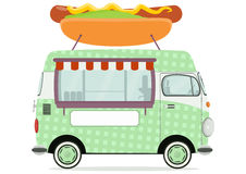 街道食物搬运车 向量例证