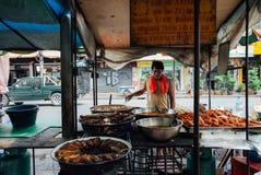 街道食物摊位在曼谷,泰国 库存照片