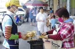 街道食物烹饪器材 免版税库存照片