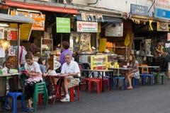 街道食物餐馆在曼谷 库存照片