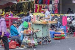 街道食物,大叻市市场,越南 图库摄影
