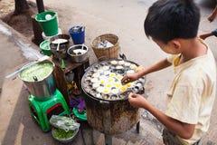 街道食物,仰光,缅甸 库存照片