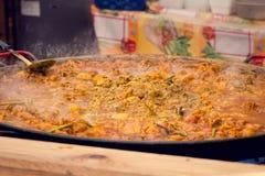 街道食物 通入蒸汽的热的咖喱 库存照片