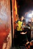 街道餐馆在Jogyakarta 图库摄影