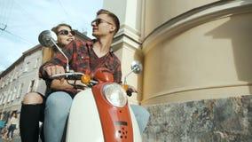街道骑马摩托车 股票视频