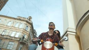 街道骑马摩托车 影视素材