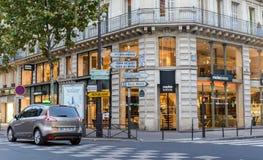 巴黎街道,交叉路 库存图片