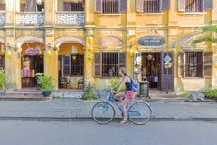 街道,会安市,越南 库存照片