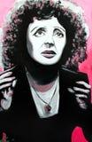 街道画伊迪丝Piaf画象 免版税库存图片