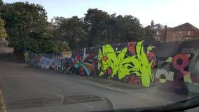 街道画伯恩茅斯 免版税图库摄影