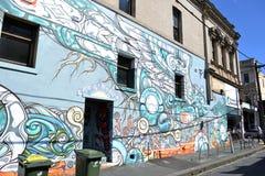 街道画和壁画在墨尔本 免版税库存图片
