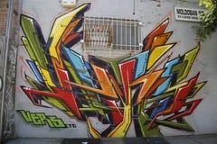 街道画在东部威廉斯堡在布鲁克林 图库摄影