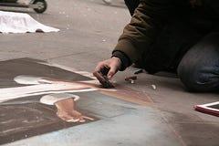 街道绘画在佛罗伦萨,托斯卡纳,意大利 库存图片