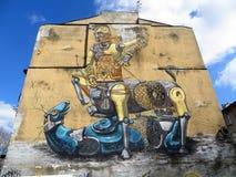 街道画在华沙 库存图片